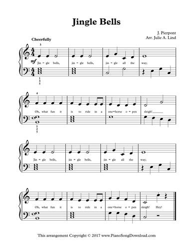 tutorial piano jingle bells jingle bells free level 2 christmas piano sheet music