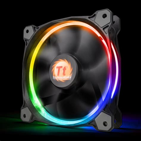 high static pressure fans riing 14 rgb series high static pressure 140mm fan