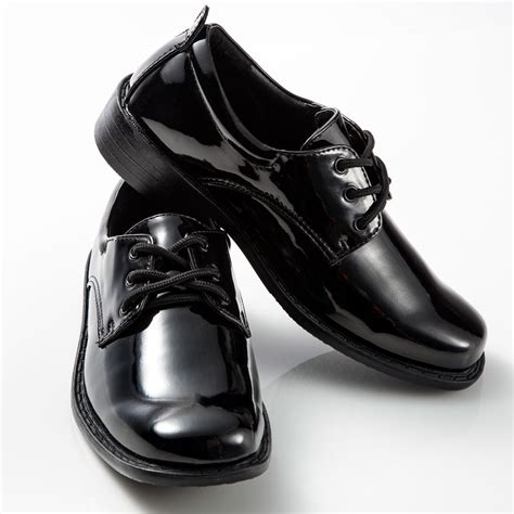 boys dress shoes black patent leather tuxedo shoes square toe for toddler children