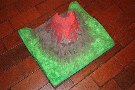 How To Make A Paper Volcano - make paper mache volcano html autos post