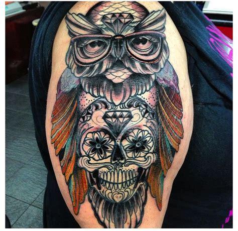 tattoo owl skull owl skull tattoo tattoo pinterest