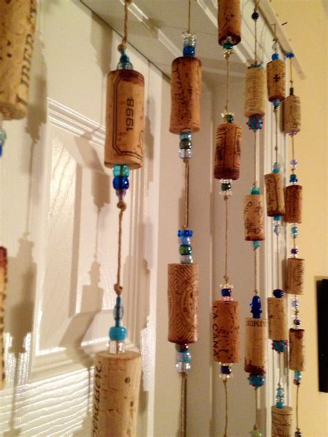 Wine Cork Curtain Drill Corks Add Beads And Corks To