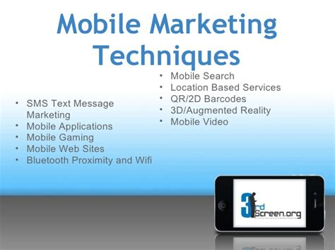 marketing mobil mobile marketing education powerpoint