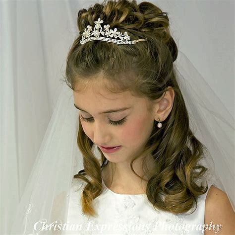 cute hairstyles for first communion image result for communion hairstyles buns kid