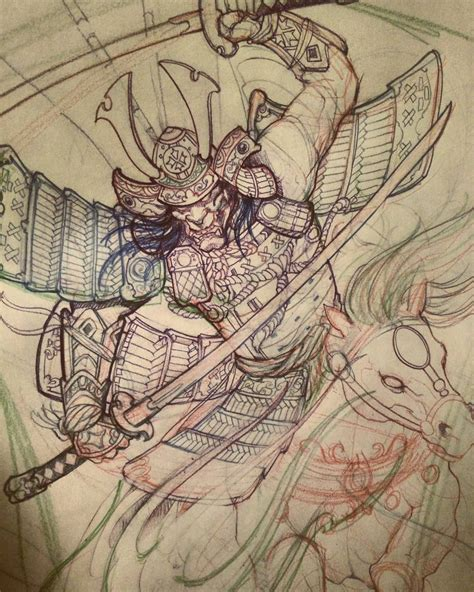 irezumi tattoo designs samurai sketch in progress chronicink asianink