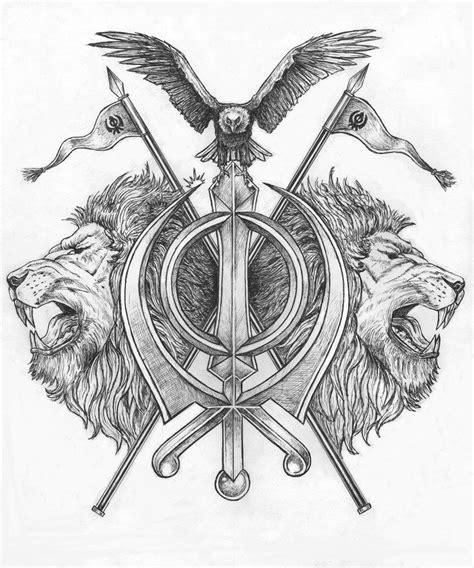 marker tattoo designs khanda design by pen tacular artist