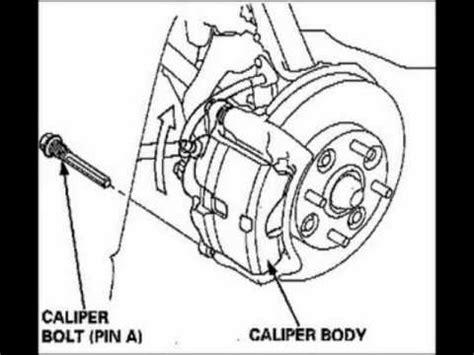 repair anti lock braking 1998 acura cl user handbook rear brake pads replacement 1997 1998 1999 acura cl youtube
