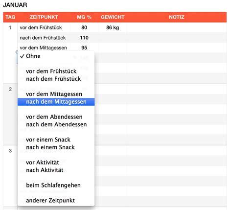 Vorlage Word Löschen Mac Numbers Vorlage Blutzuckertabelle Numbersvorlagen De