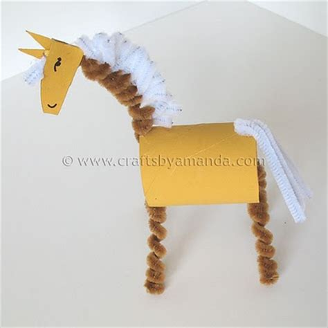 how to make animals out of pony cardboard family crafts
