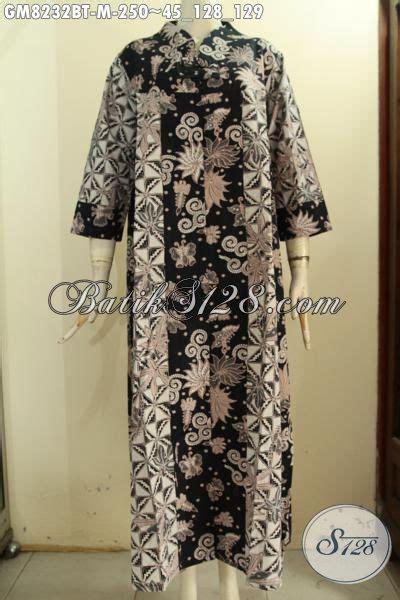 Gamis Mewah Inneke 020 Gm model baju batik muslim untuk wanita muda gamis batik elegan mewah dengan krah v pakai 2