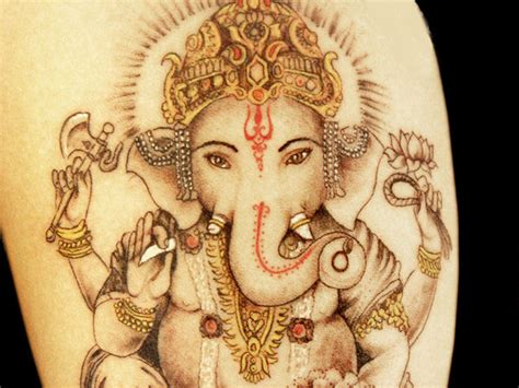 elephant god tattoo elephant lord ganesha