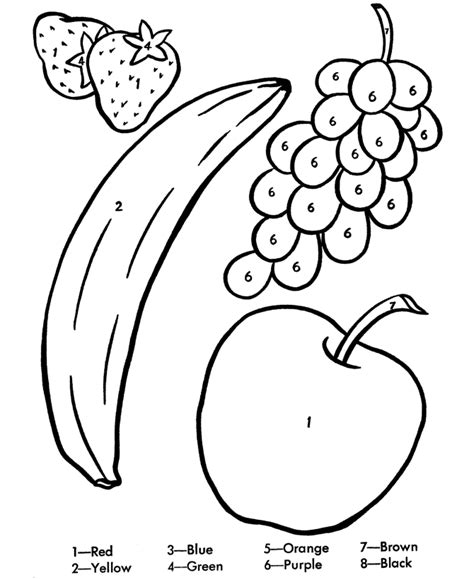 coloring pages colors preschool preschool fruit coloring pages coloring home