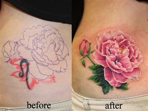 peony rose tattoo best 25 flower cover up tattoos ideas on