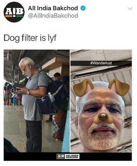 pm modis dog filter meme derek obrien shashi