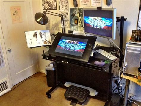 desk for digital artist imaginefx studios search diy