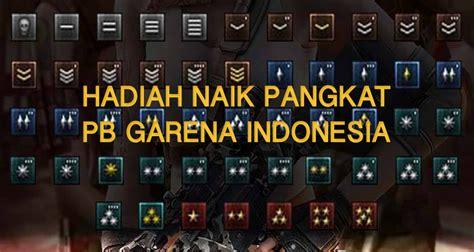 buat clan pb garena pangkat daftar lengkap hadiah naik pangkat pb garena terbaru