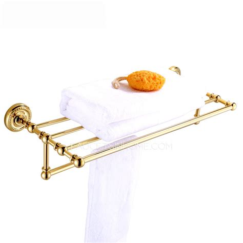 Brass Towel Shelf by Luxury Carved Brass Bathroom Towel Shower Shelves