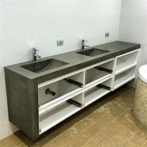 concrete bathroom vanity 1000 images about polished concrete bathroom vanities on