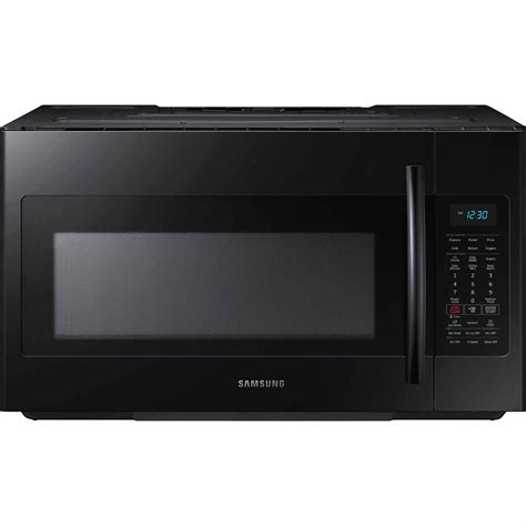 samsung me18h704sfb 1 8 cu ft the range microwave w sensor cooking black sears outlet
