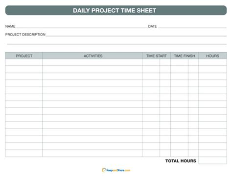 printable time tracking sheets best photos of project timesheet template project