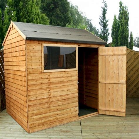Shed 8x6 by Millbrook Value Overlap Apex Shed 8x6 One Garden