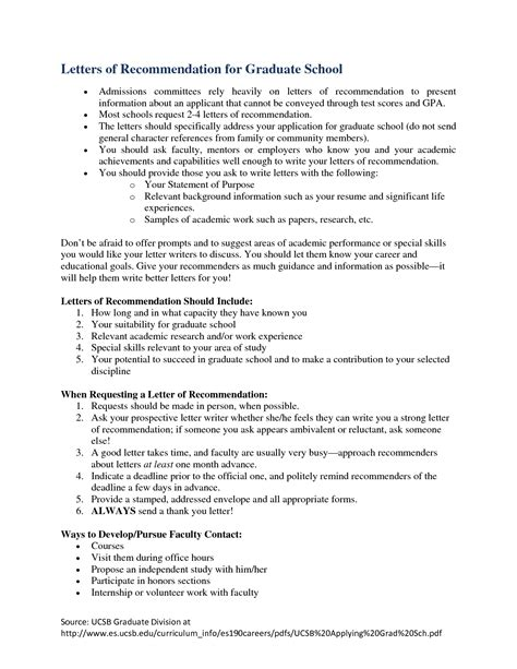 School Recommendation Letter Tips Recommendation Letters For Graduate School Free Resumes Tips