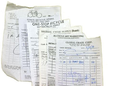 bicycle receipt template philippines bicycle hunt jeff werner
