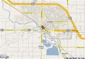 Map Of Midland Michigan by Map Of The H Hotel Midland