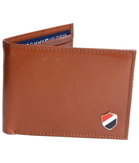Hilfiger Brown Leather 1791056 hilfiger brown genuine leather quality wallet buy at low price in india snapdeal