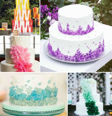 Rocks For Cake Decorating by Geode Cakes Are A New Trend Weddingelation