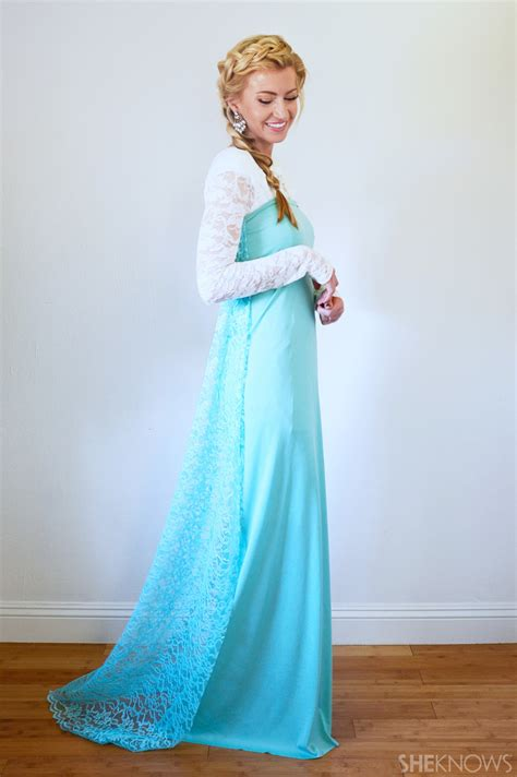 Handmade Elsa Costume - easy diy disney princess costumes