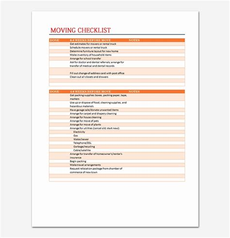 moving planner template 20 unique pics of moving checklist spreadsheet sancd org