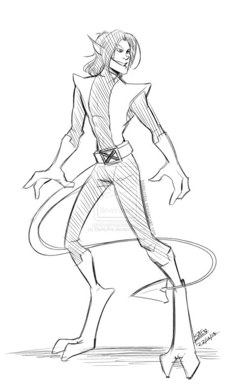 sketchbook x drawings nightcrawler sketch by darklitria on deviantart