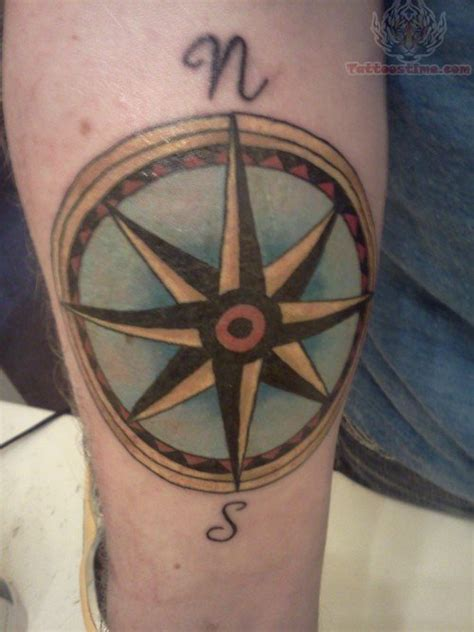 coloured compass tattoo color ink compass tattoo on hand