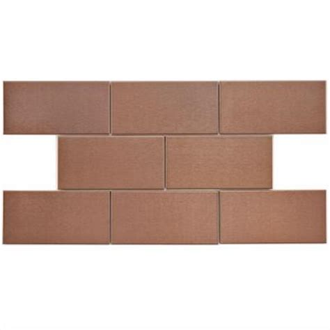 Home Depot Subway Tile by Merola Tile Alloy Subway Copper 3 In X 6 In Stainless