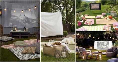 easy diy outdoor cinema    yard  ultimate