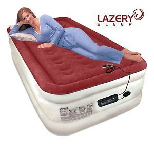 lazery sleep air mattress airbed with built in electric 7 settings remote led ebay
