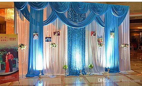 home design for wedding new design luxurious decoration blue wedding swag wedding