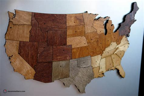 woodworking usa usa map puzzle stained plywood