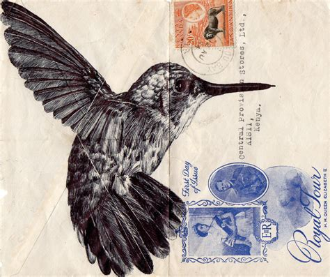 Blue Prints For Homes by Mark Powell Reuses Old Antique Envelopes To Create Amazing