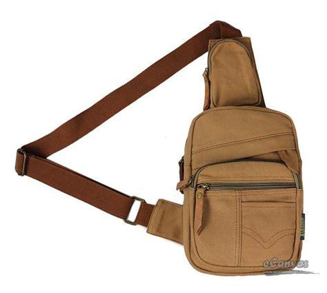 Fancyqube Canvas Chest Bag Kahki backpack one army green khaki chest shoulder bag