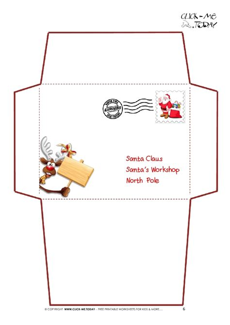 Santa Claus Envelope Template Invitation Template Letter To Santa Template Free