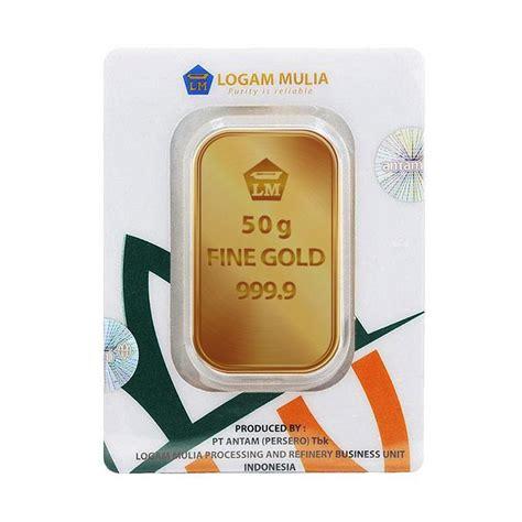 Emas Antam 50 Gram jual antam logam mulia keping emas 50 g 999 9 gold certificate harga