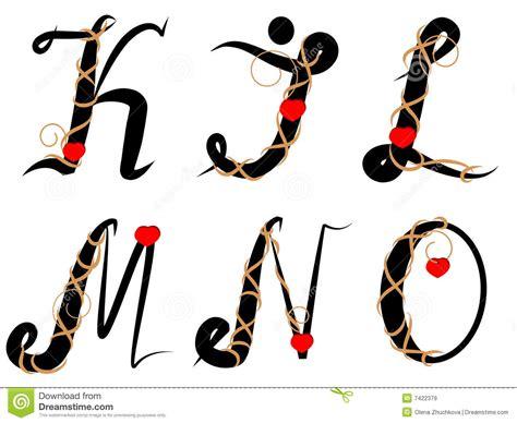 lettere decorate 1032 ha decorato l alfabeto immagini stock libere da