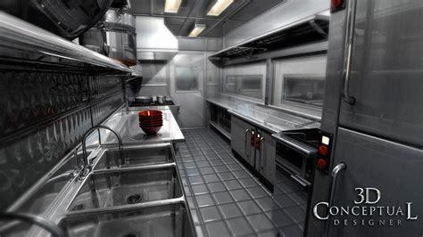 interior design equipment inside food truck layout 3dconceptualdesignerblog