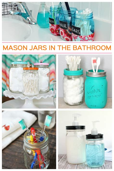 Bathroom Craft Ideas mason jar bathroom crafts
