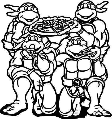 Coloring Pictures Ninja Turtle Eat Pizza Coloring Page Wecoloringpage by Coloring Pictures