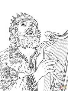 King David Outline by Ausmalbild K 246 Nig David Spielt Auf Der Harve Ausmalbilder Kostenlos Zum Ausdrucken