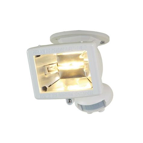 outdoor motion sensor flood light reviews all pro 110 degree white halogen motion activated sensor