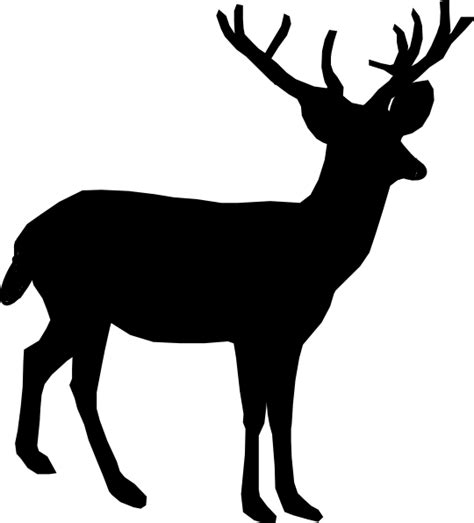 free clipart silhouette deer silhouette clip at clker vector clip